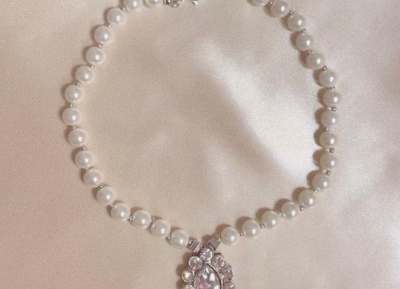 Gem Drop Pearl Necklace