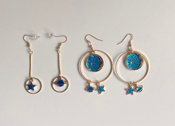 Blue Celestial Earring Combo