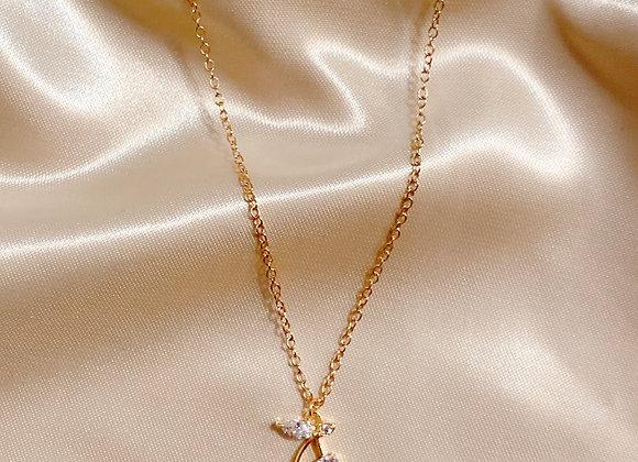 Diamond Cherry Necklace