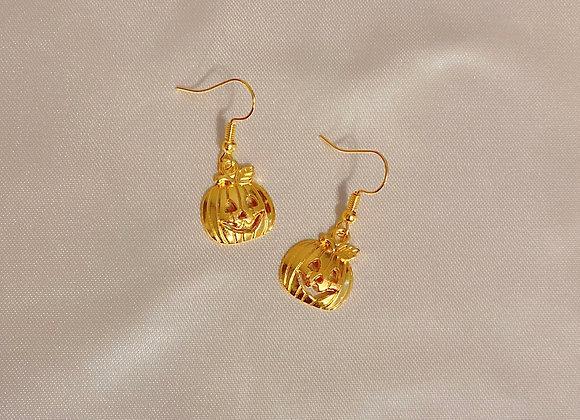 Gold Pumpkin Earrings