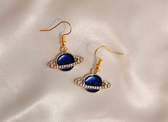Glitter Saturn Earrings