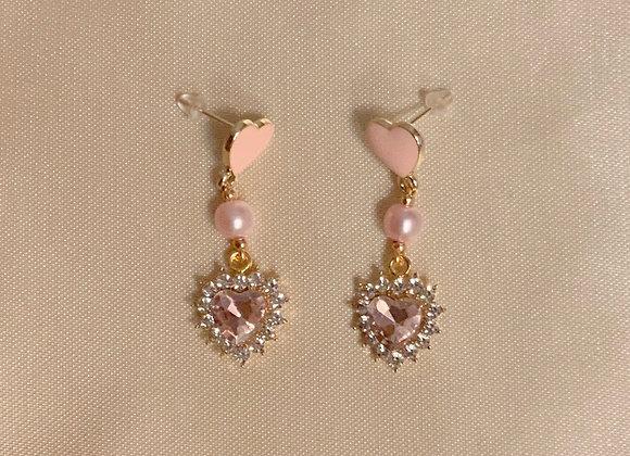 Princess Heart Earrings