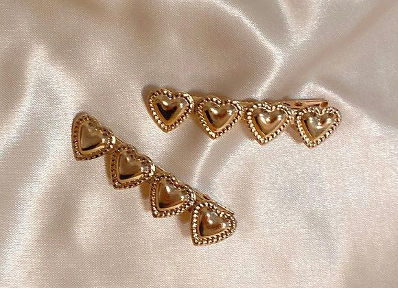 Gold Heart Clip