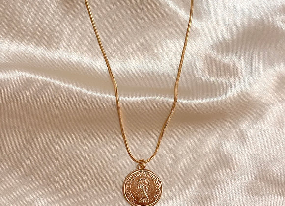 British Gold Coin Necklace