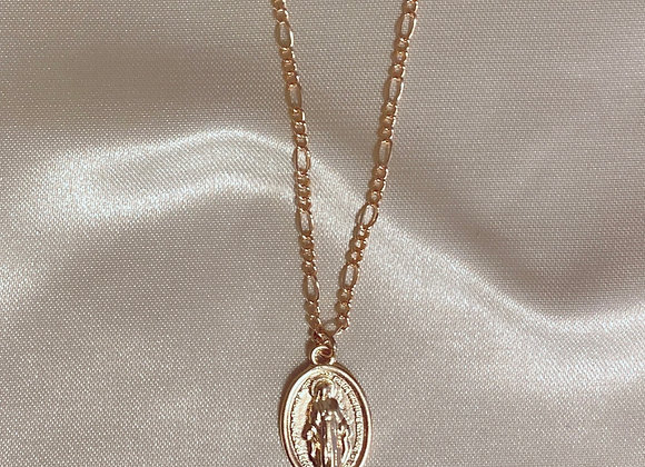 Gold Mary Necklace