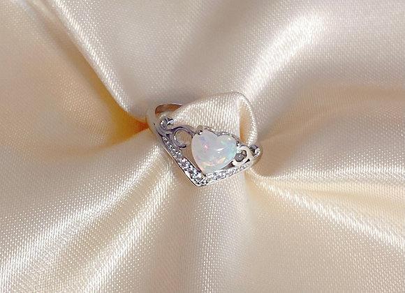 Enchanted Opal Heart Ring