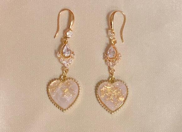 Regal Crystal Heart Earrings