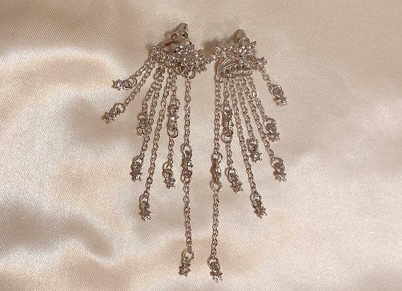 Silver Fallen Star Earrings
