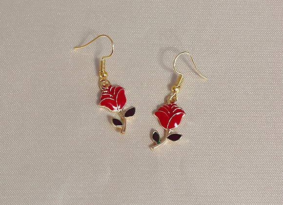Rose Charm Earrings