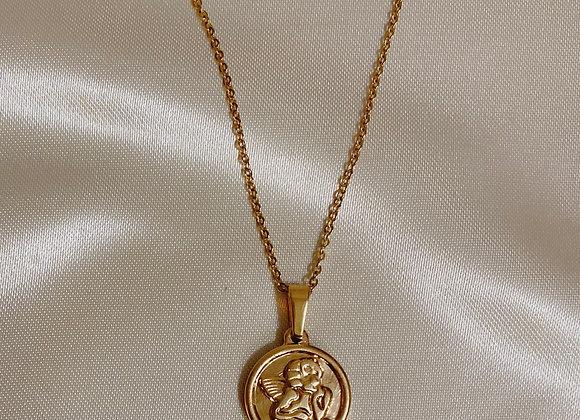 Cherub Coin Necklace