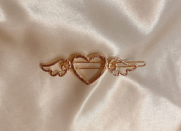 Gold Angel Heart Clip