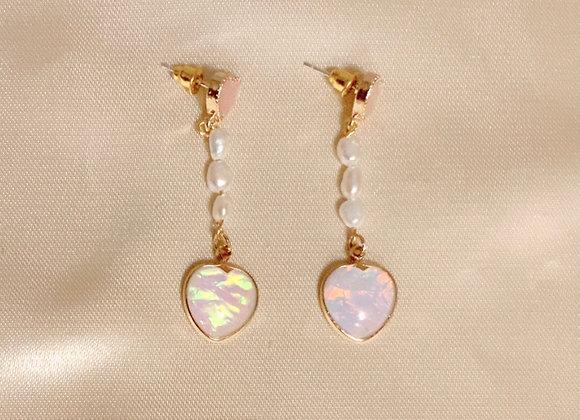 Enchanted Pearl Heart Earrings