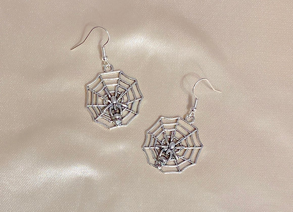 Whole Spider Web Earrings