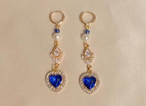 Midnight Heart Earrings