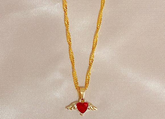 Diamond Angel Heart Necklace