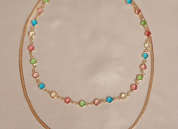 Gold Spring Necklace