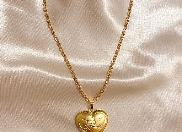 Scorpio Zodiac Heart Locket