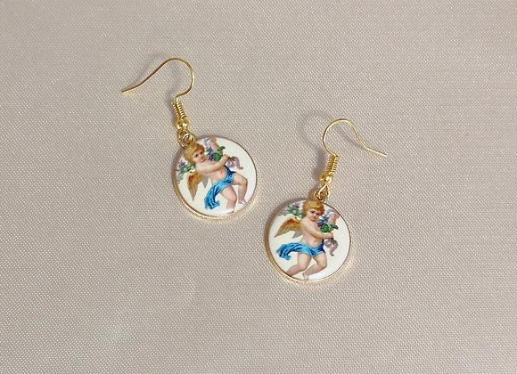 Cherub Coin Earrings