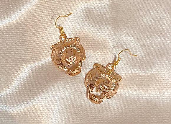 Tiger Head Earrings