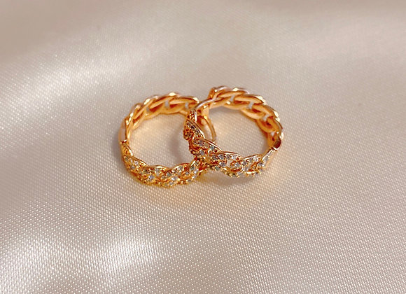 Mini Gold Diamond Hoops