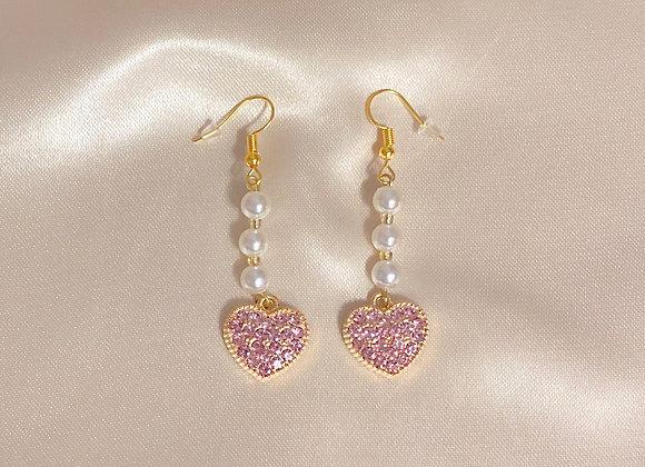 Sweetheart Pearl Earrings