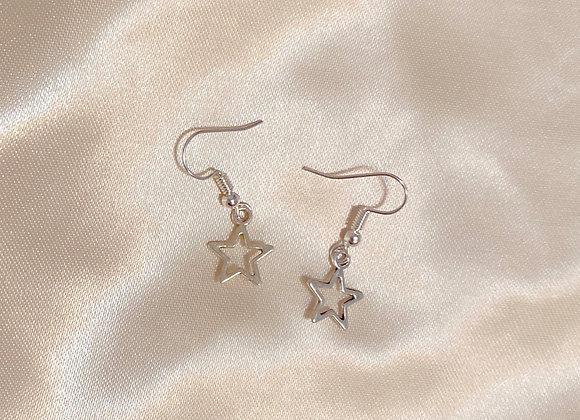 Hollow Star Earrings