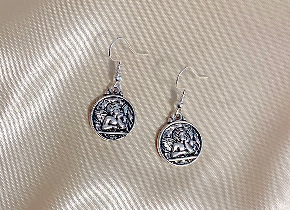 Cherub Coin Earrings