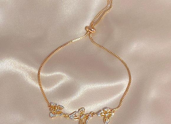 Diamond Butterfly Bracelet