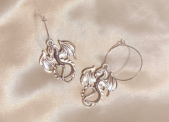 Silver Dragon Hoops