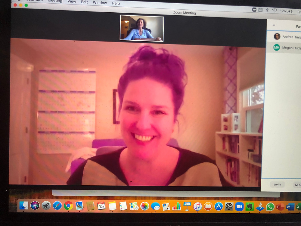 Video chatting online with Megan Hudson