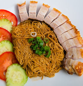 Roast pork dry noodle