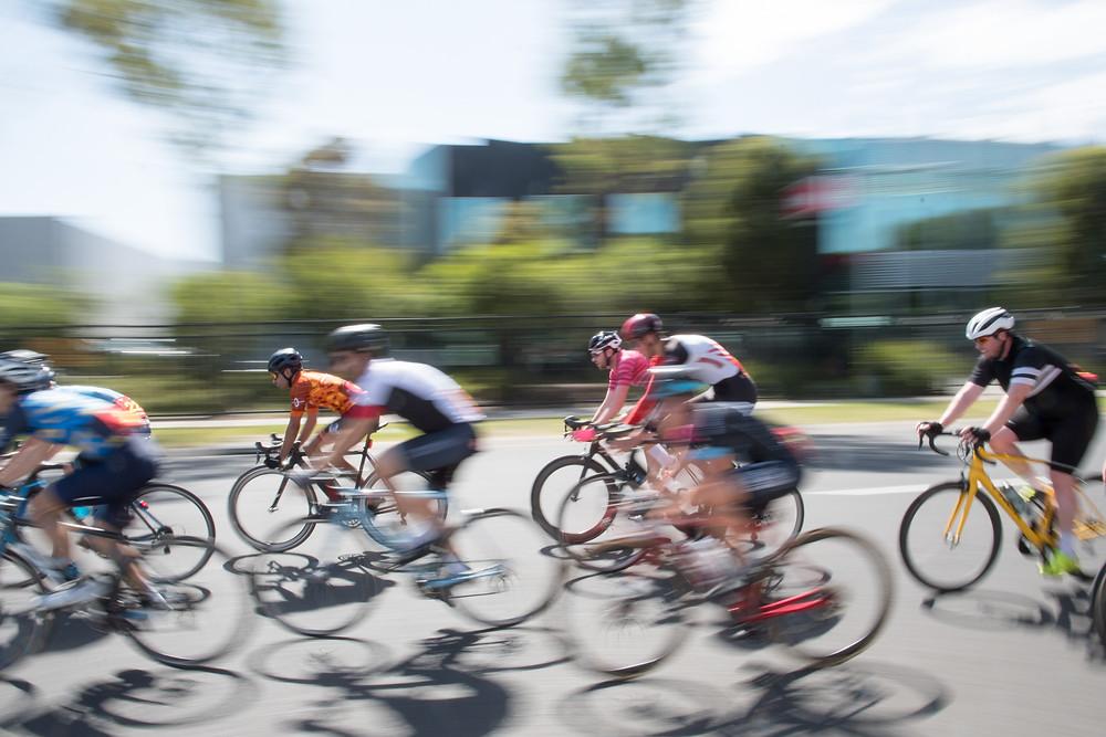 Criterium cyclists