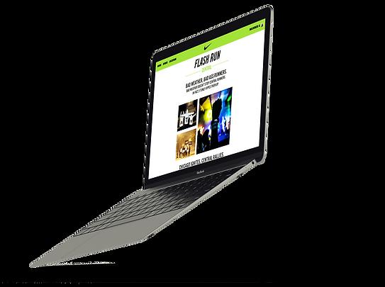 Design: Nike microsite