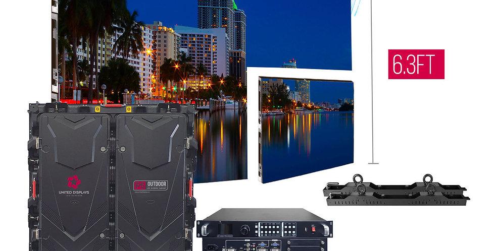 NovaStar P5mm 12.6'x6.3' Outdoor Turn-key LED System (8 panels 960x960mm)