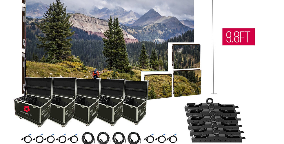 NovaStar P3.91mm 19.7'x9.8' Indoor Turn-key LED System (72 panels 500x500)