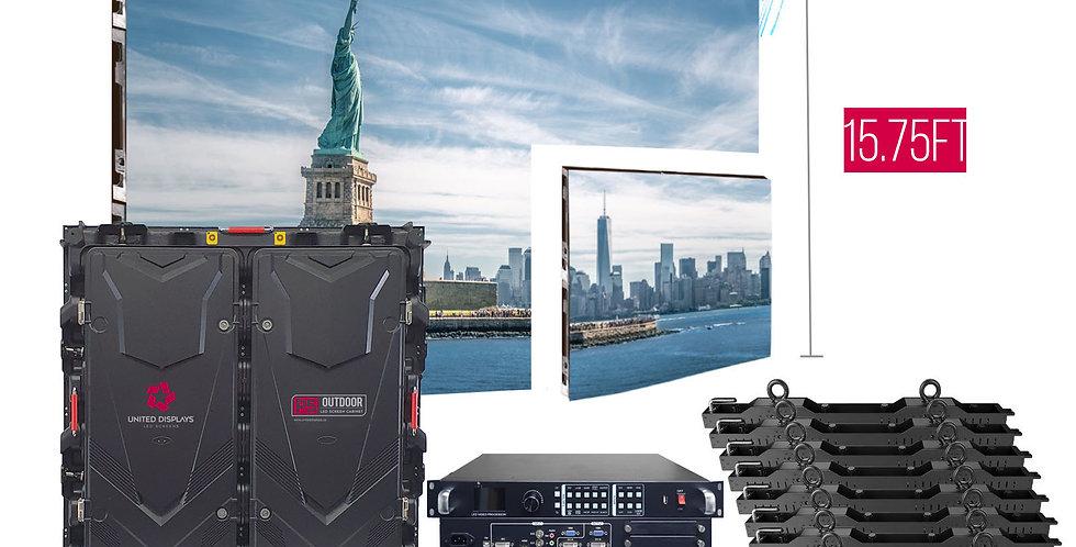 NovaStar P5mm 31.5'x15.75' Outdoor Turn-key LED System (50 panels 960x960mm)