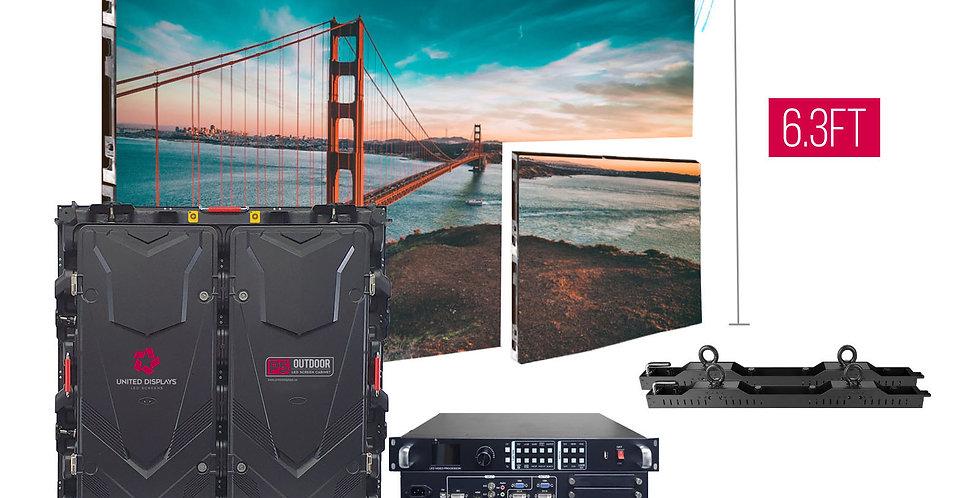 NovaStar P5mm 9.45'x6.3' Outdoor Turn-key LED System (6 panels 960x960mm)