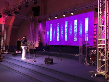 LED Screen 20' x 10' in Church