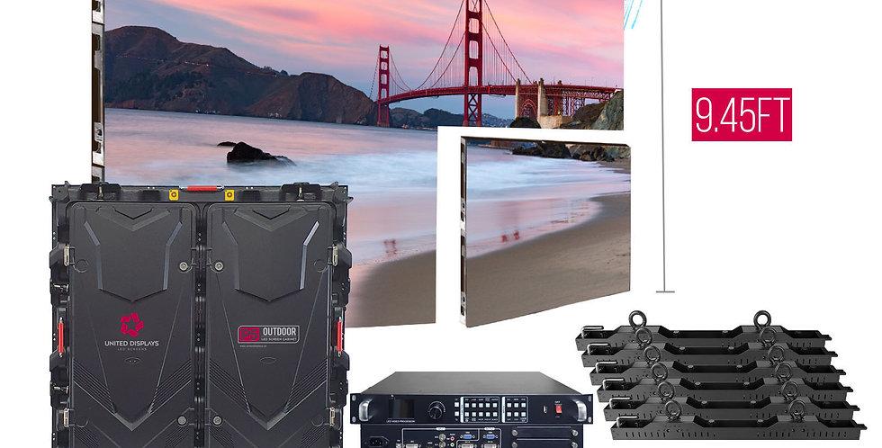 NovaStar P5mm 18.9'x9.45' Outdoor Turn-key LED System (18 panels 960x960mm)