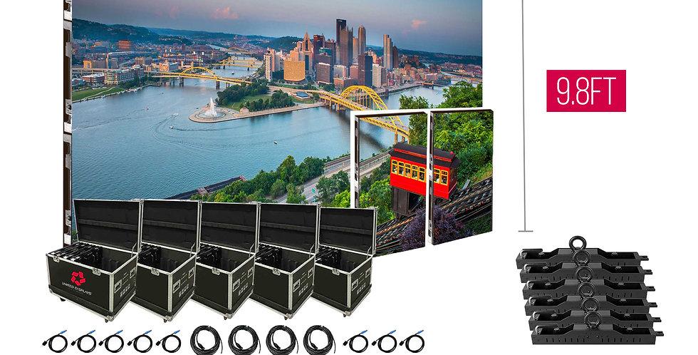 NovaStar P3.91mm 19.7'x9.8' Indoor Turn-key LED System (36 panels 500x1000)