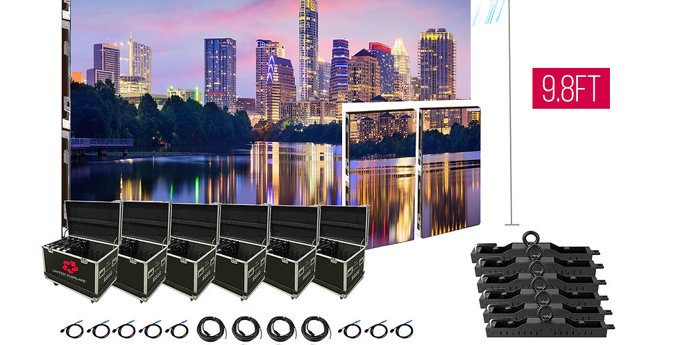 NovaStar P3.91mm 26.2'x9.8' Outdoor Turn-key LED System (48 panels 500x1000)