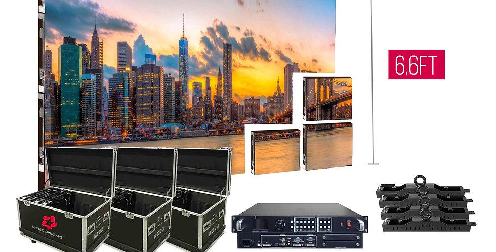 NovaStar P2.97mm 13.1'x6.6' Indoor Turn-key LED System (32 panels 500x500mm)
