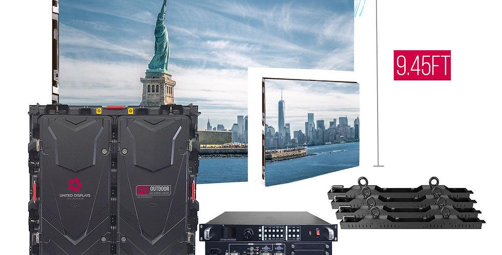 NovaStar P5mm 15.7'x9.45' Outdoor Turn-key LED System (15 panels 960x960mm)