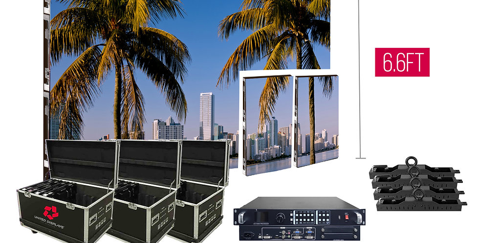 NovaStar P3.91mm 13.1'x6.6' Indoor Turn-key LED System (16 panels 500x1000m)