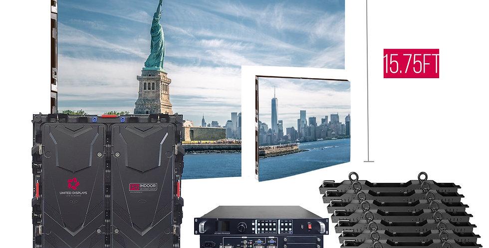 NovaStar P5mm 31.5'x15.75' Indoor Turn-key LED System (50 panels 960x960)