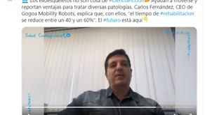 """""""Con exoesqueletos el tiempo de rehabilitación puede reducirse hasta un 60%"""", Carlos Fernández"""