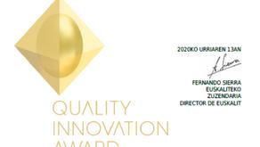Gogoa galardonada en los Premios Quality Innovation Award 2020 (QIA)