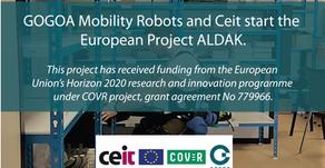 Aprobado proyecto europeo Aldak bajo COVR junto con CEIT