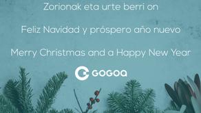 Felices fiestas y los mejores deseos de un maravilloso año nuevo desde GOGOA
