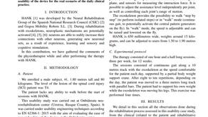 Estudio de usabilidad del exoesqueleto HANK